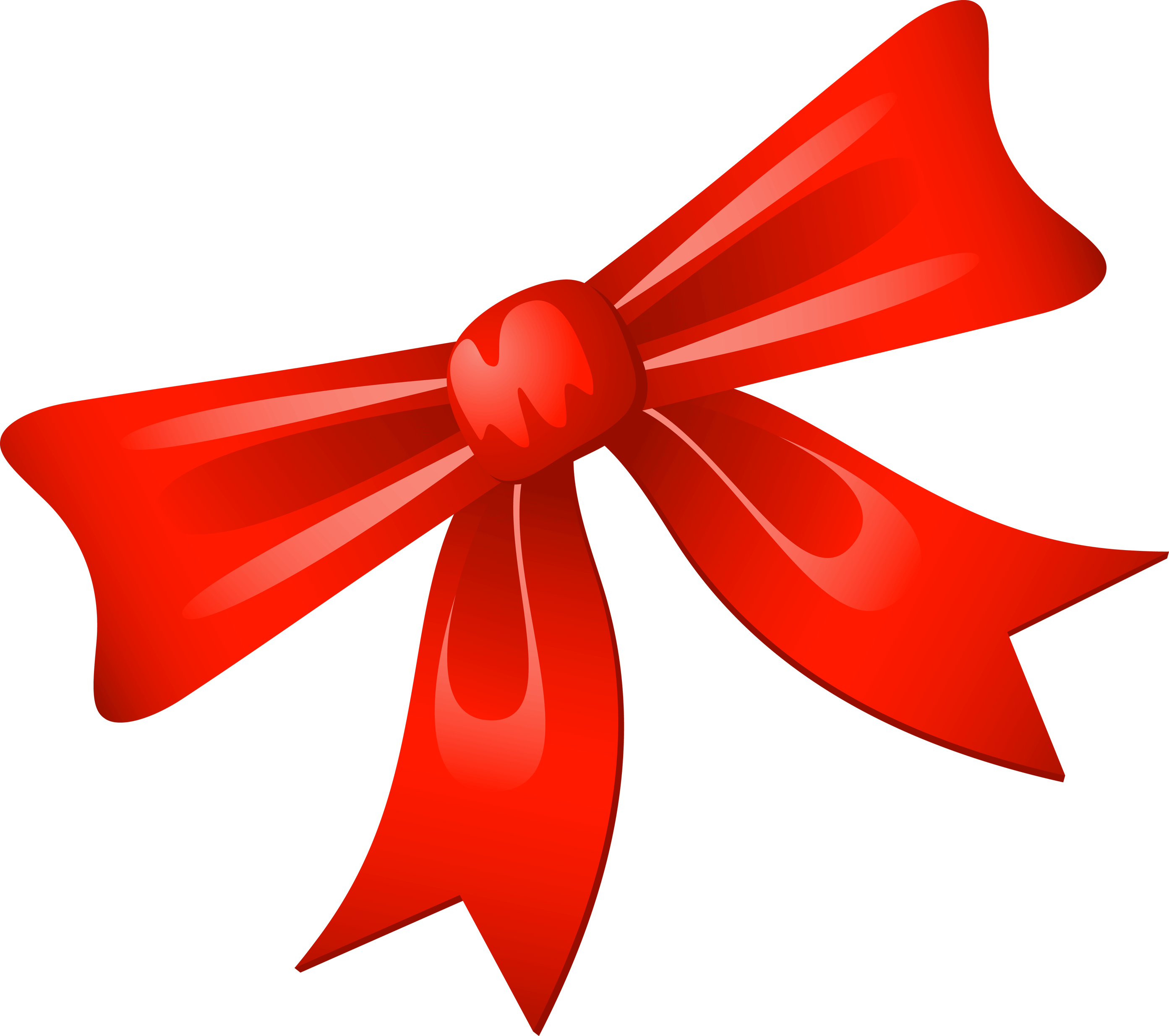 Christmas ribbons clipart