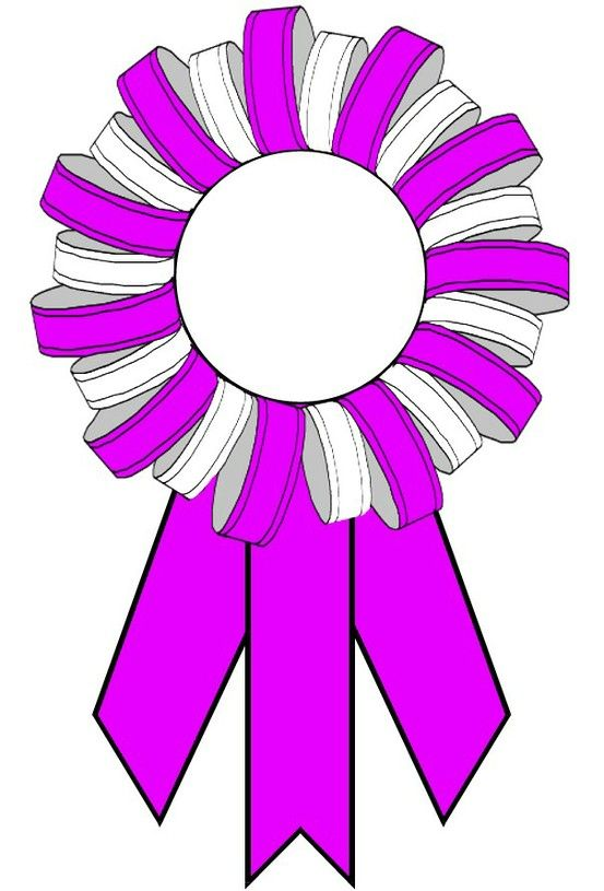 Bow ribbon clipart for certificate to write on png black and white Award ribbons 123certificates.com | Cream of the Crop | Ribbon ... png black and white