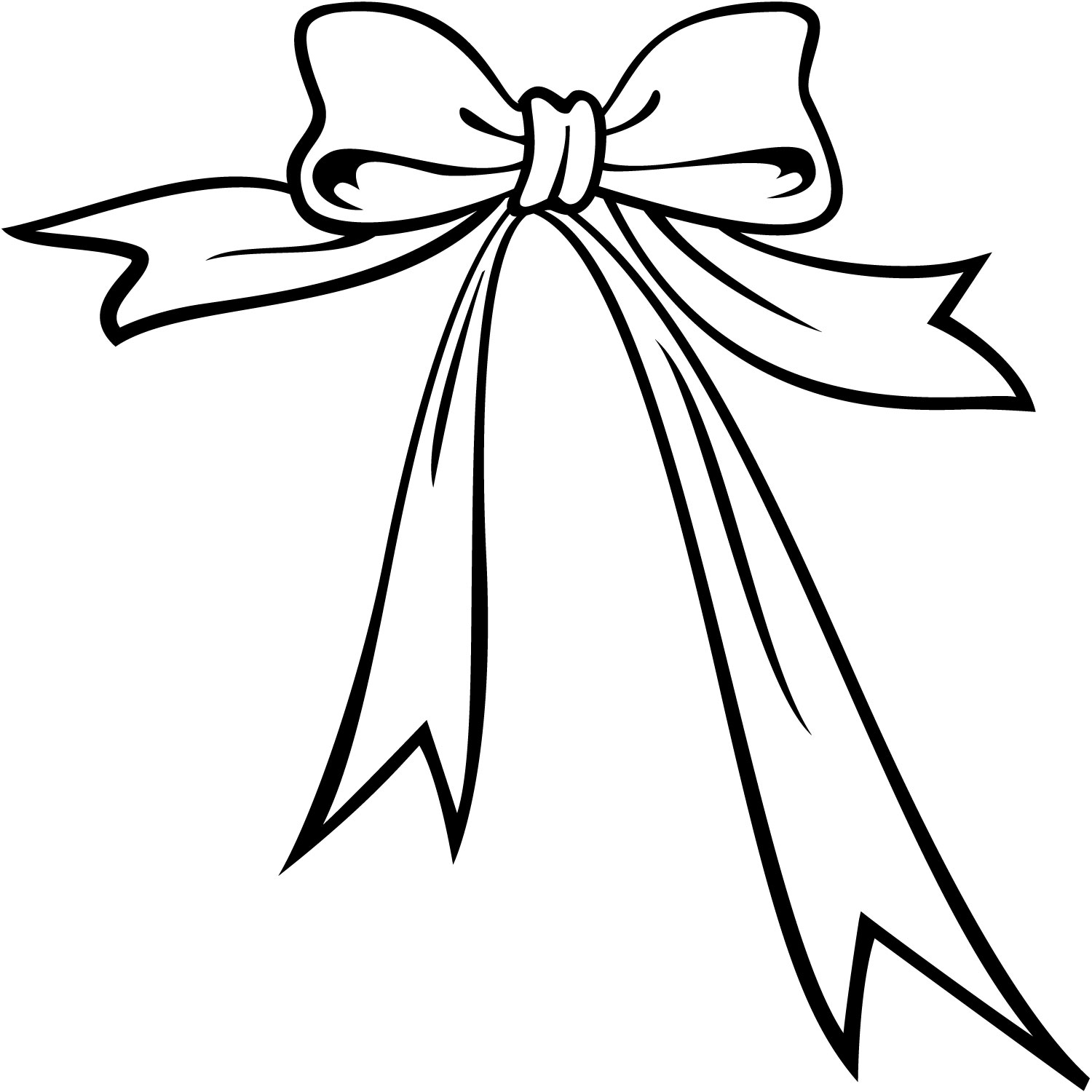 Bow with tails clipart black and white png black and white stock Bow clip art google search art no background clip art wallhi - Clipartix png black and white stock