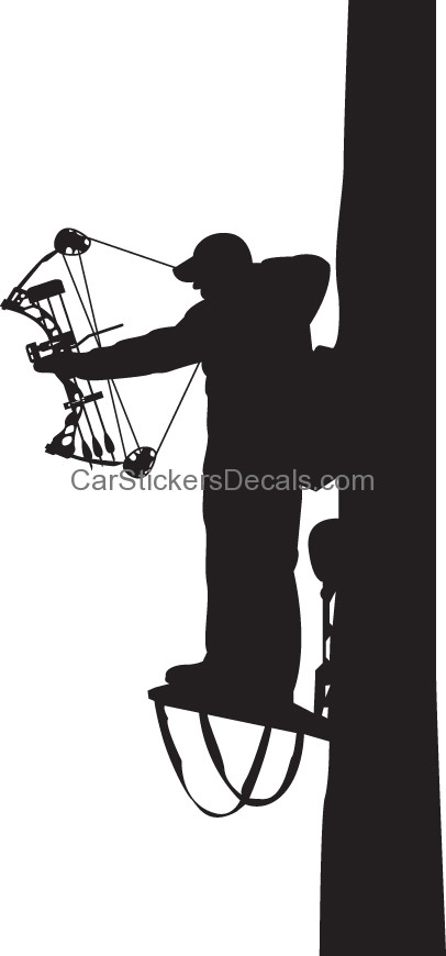 Bowhunter clipart picture library library Bowhunter In Tree Stand Sticker 2 & Decal Car Stickers - Free Clipart picture library library