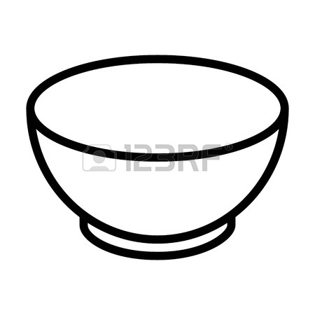 Bowl clipart black and white clipart freeuse Bowl clipart black and white 5 » Clipart Station clipart freeuse