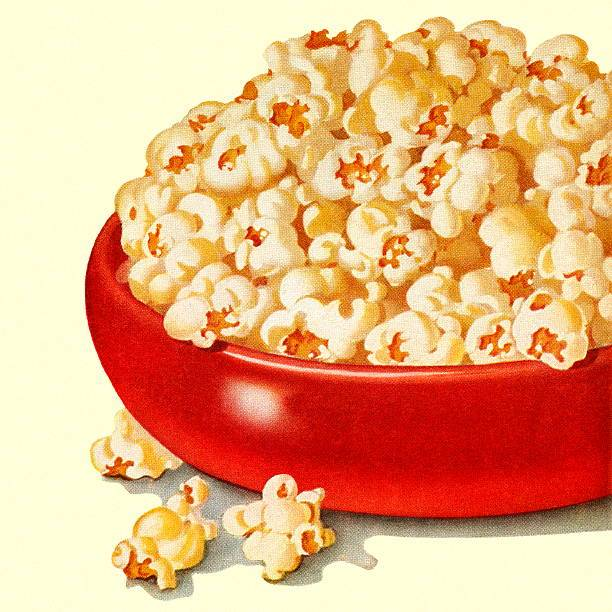 Bowl of popcorn clipart svg black and white Bowl of Popcorn » Clipart Portal svg black and white