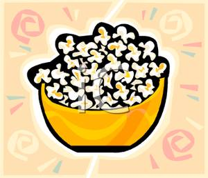 Bowl of popcorn clipart clip free library A Bowl of Popcorn - Royalty Free Clipart Picture clip free library