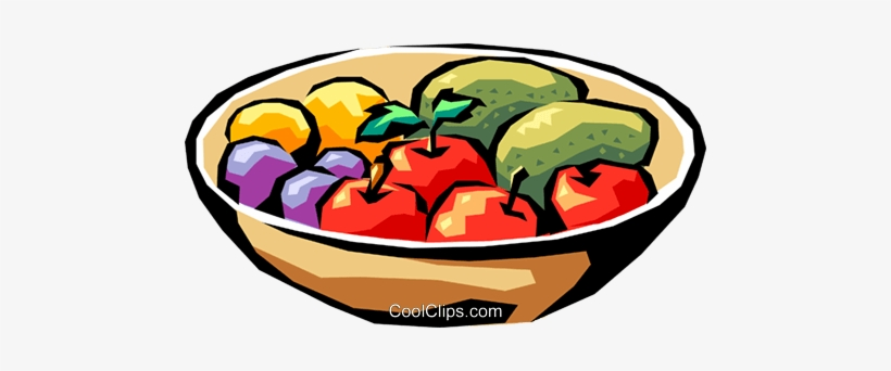 Bowl of vegetables clipart svg black and white Fruit Bowl Royalty Free Vector Clip Art Illustration - Fruits And ... svg black and white