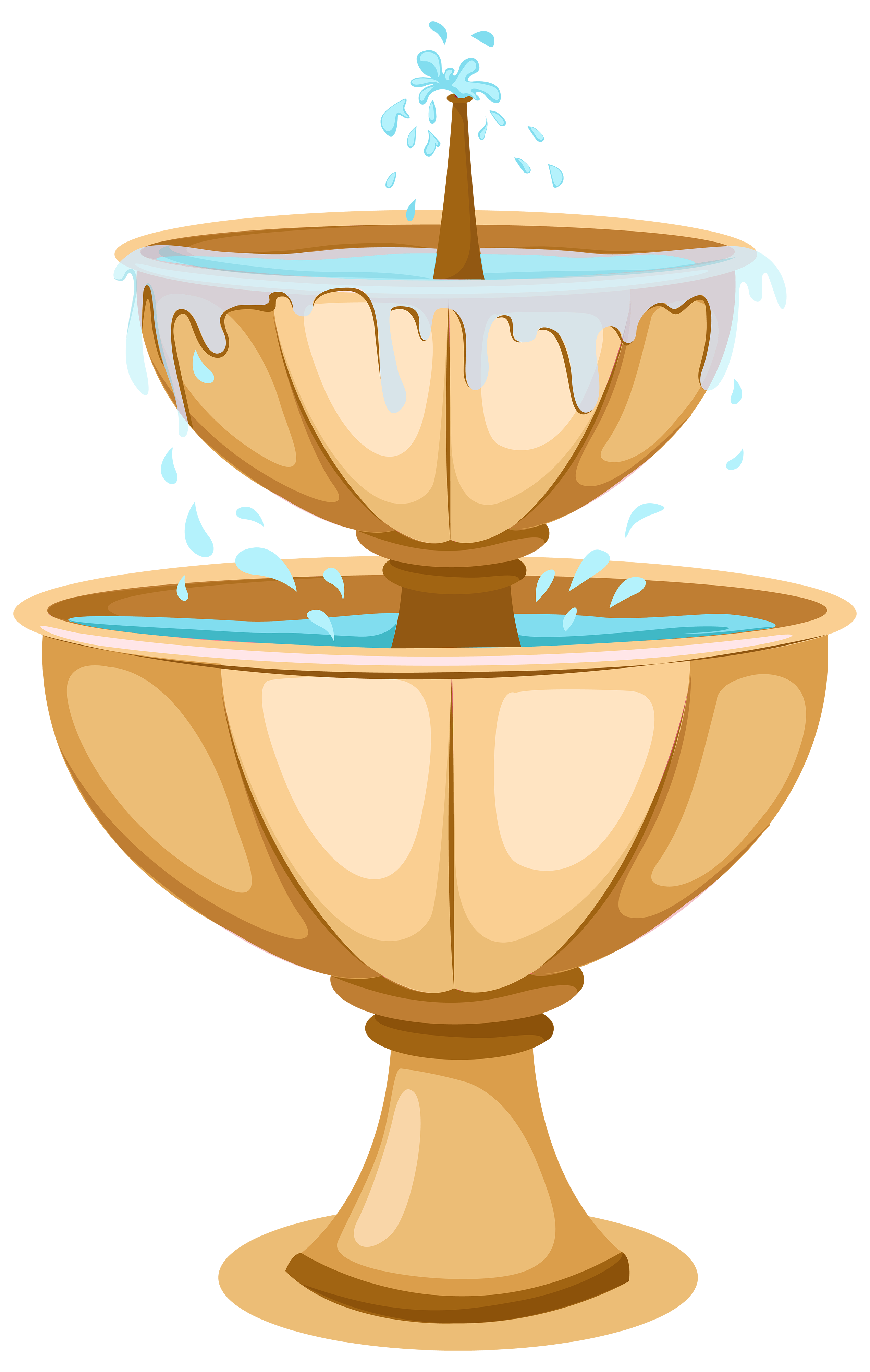 Bowl with money under it clipart svg royalty free download Garden Fountain PNG Clipart - Best WEB Clipart svg royalty free download