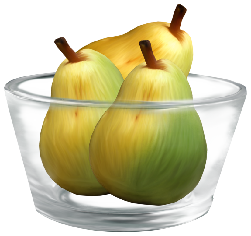 Bowl with money under it clipart black and white Pears in a Glass Bowl PNG Clipart - Best WEB Clipart black and white