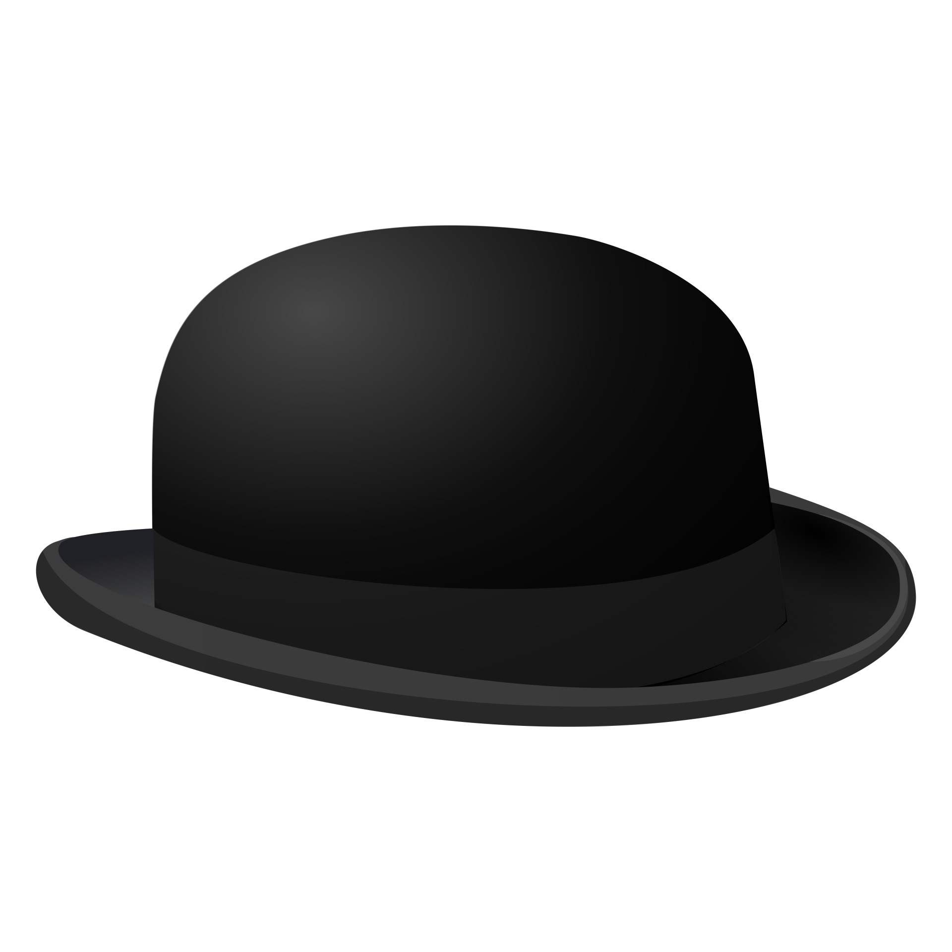 Bowler hat free clipart royalty free library Free Bowler Hat Silhouette, Download Free Clip Art, Free Clip Art on ... royalty free library
