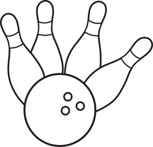 Bowling clipart black and white png library library Bowling Pin And Ball Clipart | Free download best Bowling Pin And ... png library library