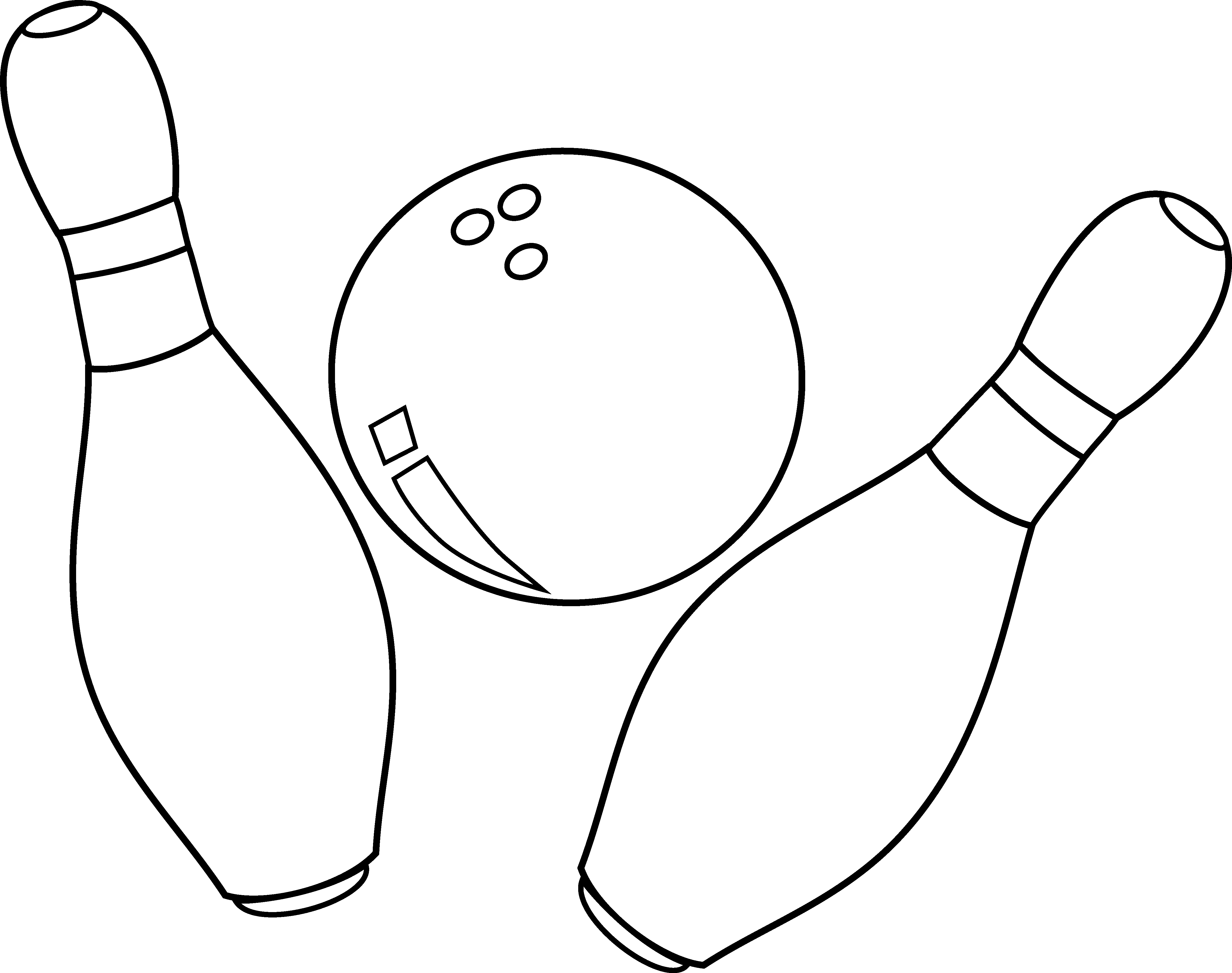 Bowling ball and pins black and white clipart png freeuse stock Free Pictures Of Bowling Pins And Balls, Download Free Clip Art ... png freeuse stock