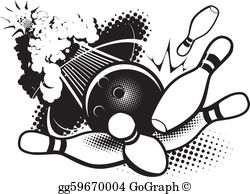 Bowling ball with flames and pins clipart black and white black and white stock Bowling Ball Clip Art - Royalty Free - GoGraph black and white stock
