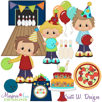 Bowling birthday clipart clipart library library Bowling Birthday Party-Boys SVG Cutting Files + Clipart - $2.28 ... clipart library library