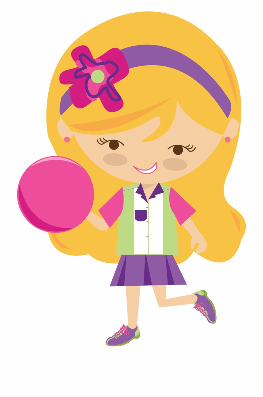 Bowling girl clipart clipart Little Girl Clipart Bowling Pencil And In Color Little - Free ... clipart