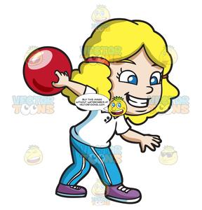 Bowling girl clipart transparent A Girl Enjoying The Game Of Bowling transparent