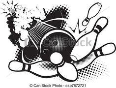 Bowling logo clipart jpg transparent stock 7 Best Bowling images in 2015 | Bowling, Clip art, Bowling ball jpg transparent stock