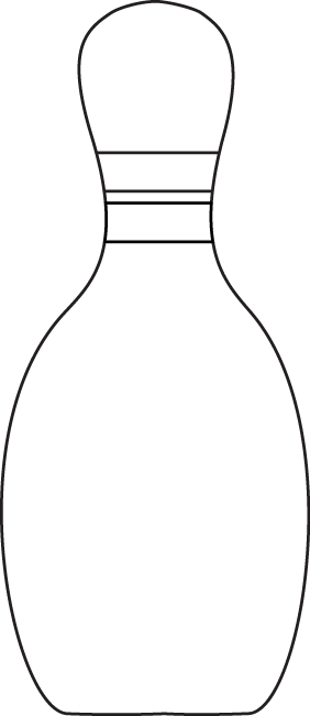 Bowling pins clipart black and white png library download Black & White Bowling Pin   Clip Art-Sports   Bowling pins, Bowling ... png library download
