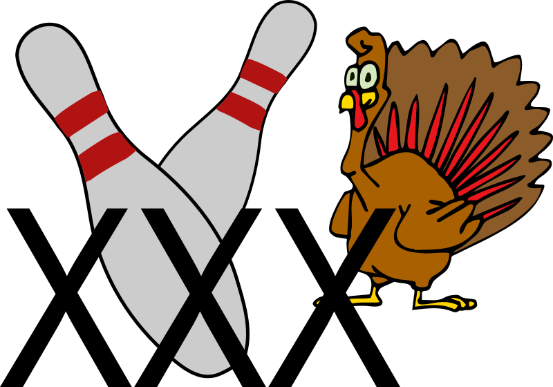 Bowling turkey clipart banner royalty free stock Clipart - Bowling Turkey banner royalty free stock