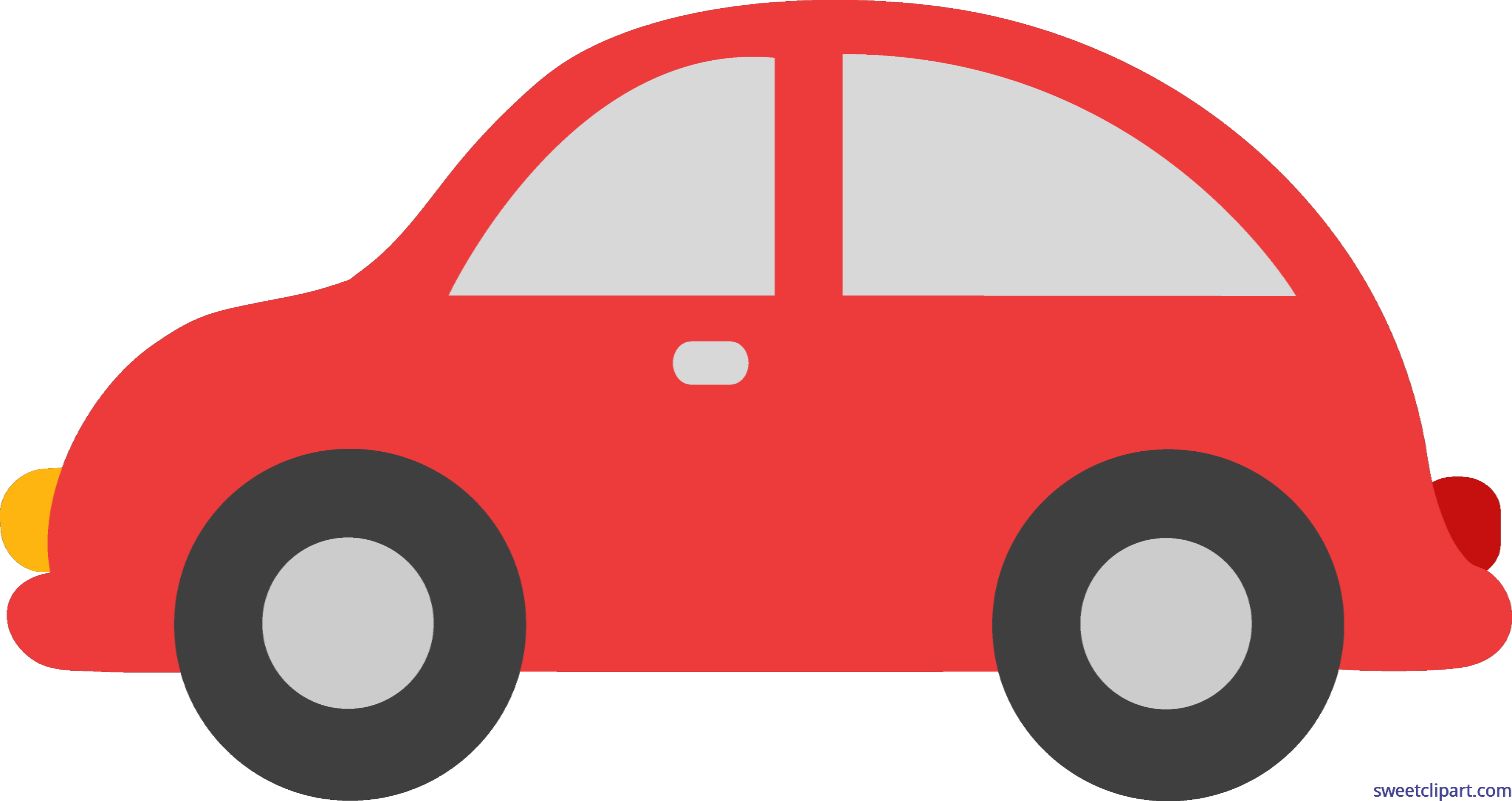 Car from behind clipart picture free Red Toy Car Clip Art - Sweet Clip Art picture free