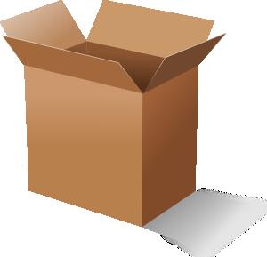 Box clipart free vector library Cardboard Box Clip Art at Clker.com - vector clip art online ... vector library
