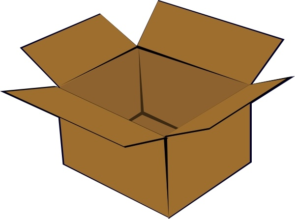 Clipart open box png black and white download Cardboard Box clip art Free vector in Open office drawing svg ( .svg ... png black and white download