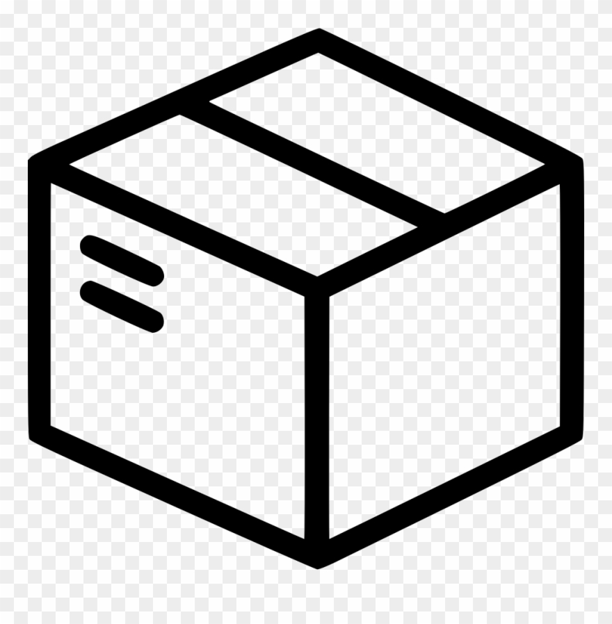 Box clipart icon graphic black and white library Shipping Box Delivery Svg Png Icon Free Download - 3d Drawing Shapes ... graphic black and white library