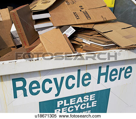 Box filled with newspaper clipart clipart free download Stock Image of Recycling dumpster filled with cardboard u18671305 ... clipart free download