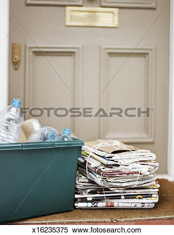Box filled with newspaper clipart svg library Stock Image of Crate Filled With Boxes and Tied Up Bundle of ... svg library
