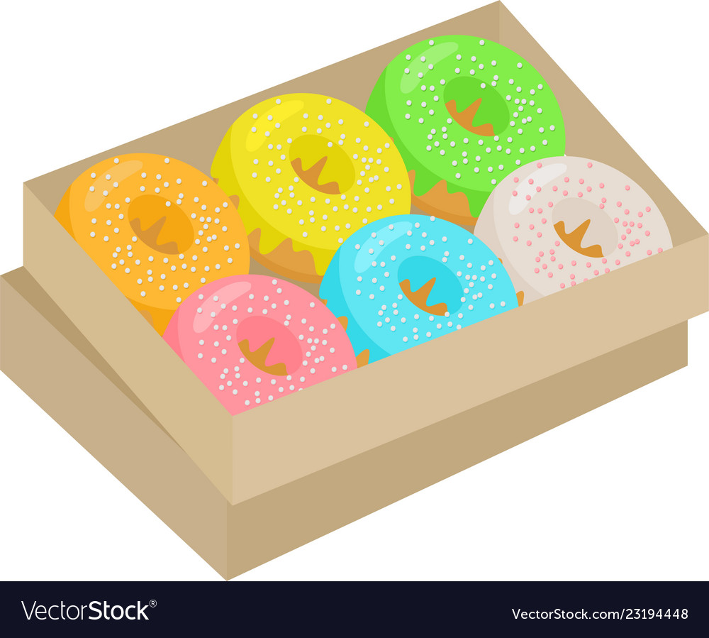Box of donuts clipart