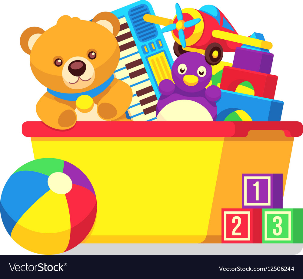 Kid toys clipart royalty free stock Kids toys in box clipart royalty free stock