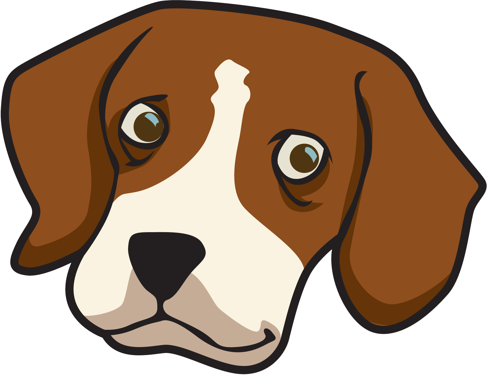 Boxer dog face clipart image free download 28+ Collection of Clipart Dog Face | High quality, free cliparts ... image free download