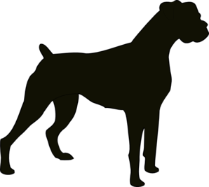 Free boxer dog clipart svg free library Boxer Silhouette clip art - vector clip art online, royalty free ... svg free library