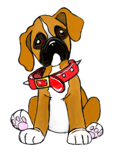Boxers dogs clipart jpg black and white library Free Boxer Puppy Cliparts, Download Free Clip Art, Free Clip Art on ... jpg black and white library