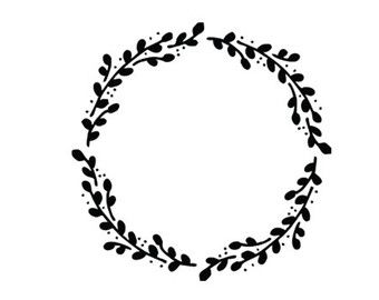 Boxwood embellishment clipart banner free library wreath svg dxf file instant download silhouette cameo cricut clip ... banner free library