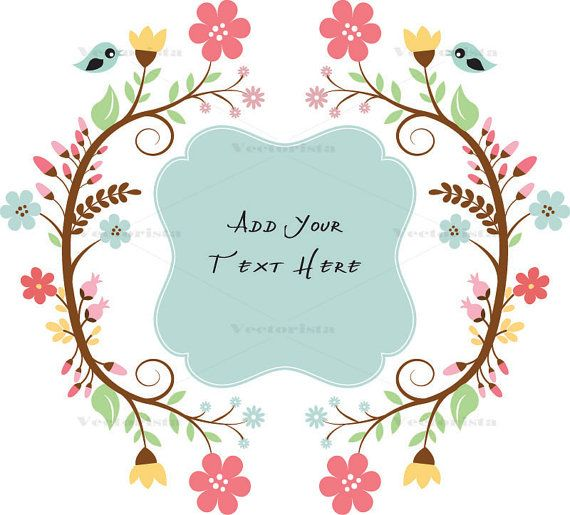 Boxwreath clipart svg free Floral Text Box Floral Wreath Clipart Vector Frame by VECTORISTA ... svg free