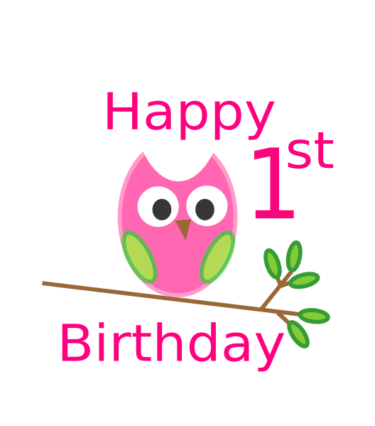 1st birthday clipart girl svg library library Clipart happy 1st birthday boy - ClipartFox svg library library