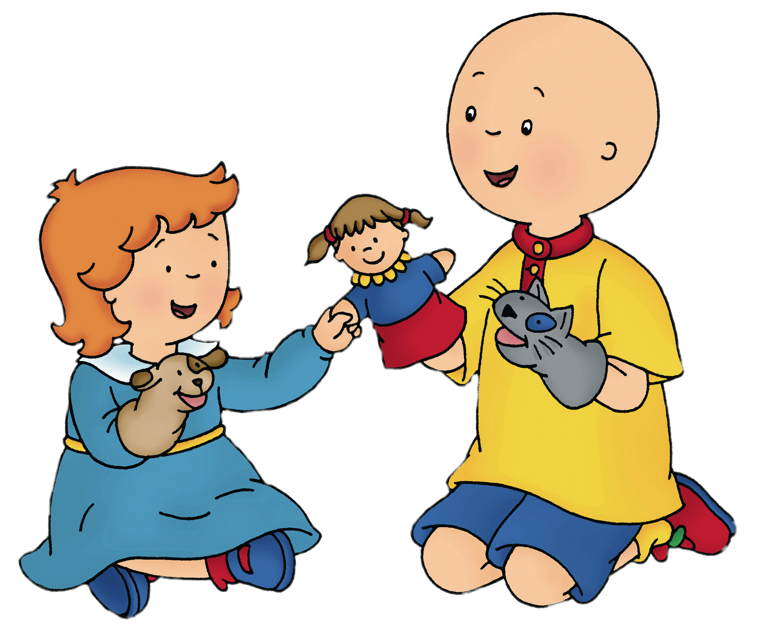 Boy and cat clipart banner royalty free download Caillou and Gilbert the Cat transparent PNG - StickPNG banner royalty free download