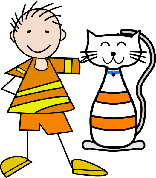 Boy and cat clipart picture library library Boy With Cat Clipart picture library library