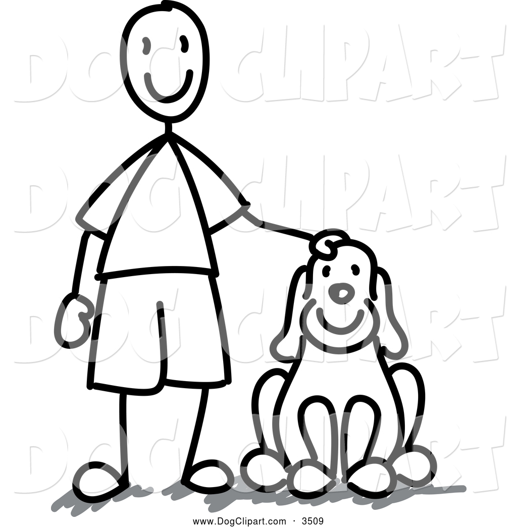Boy and dog clipart black and white picture freeuse library Dog Clip Art Black And White | Clipart Panda - Free Clipart Images picture freeuse library