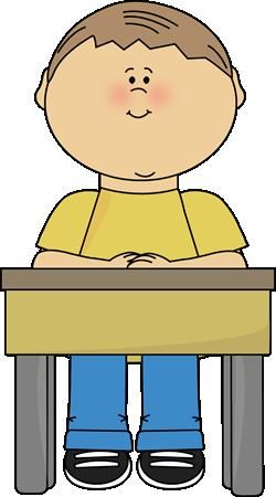Sit safe clipart picture boy sitting at school desk clipart | Classroom Bulletin | School ... picture