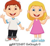 Boy and girl clipart free transparent stock Boy Girl Clip Art - Royalty Free - GoGraph transparent stock