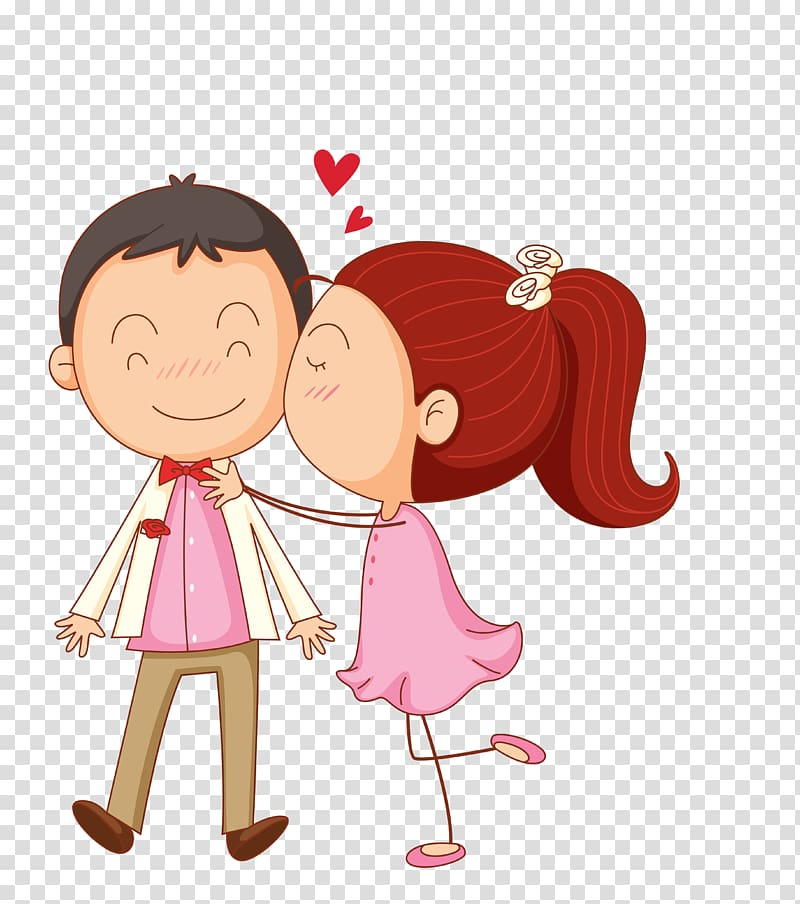 Boy girl kissing clipart picture freeuse library Girl kissing boy on cheek , Kiss Cartoon , Cartoon couple ... picture freeuse library