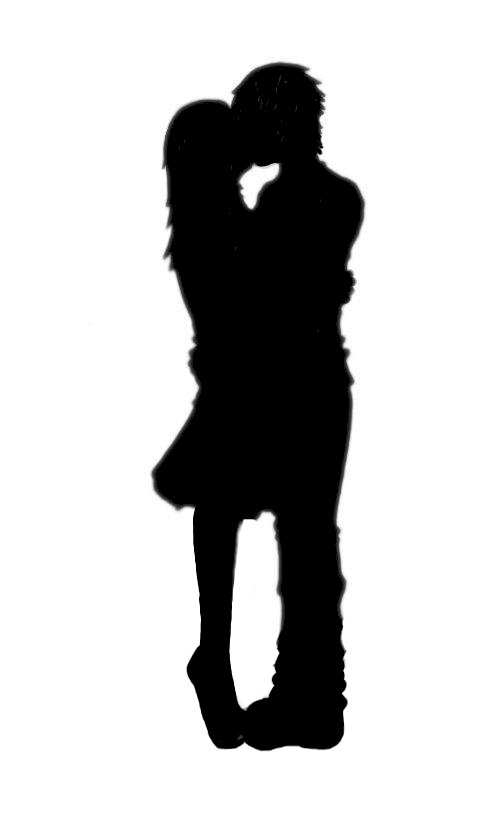 Boy and girl kissing clipart image transparent stock Free Boy And Girl Kissing Silhouette, Download Free Clip Art, Free ... image transparent stock