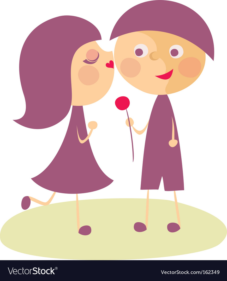 Boy and girl kissing clipart graphic library library Girl kissing boy graphic library library