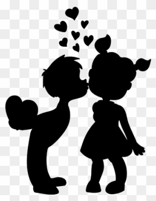 Boy and girl kissing clipart clip black and white library Kissing Furry Couple - Furry Boy Kissing Clipart - Full Size Clipart ... clip black and white library