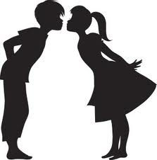 Boy and girl kissing clipart graphic free boy and girl kissing silhouette - Google keresés | Valentine\'s ideas ... graphic free