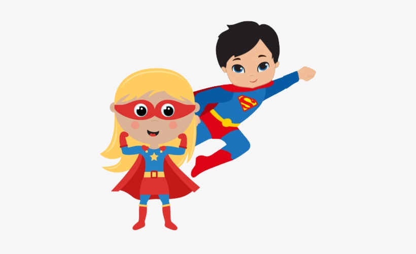 Boy and girl superhero clipart black and white download Superhero Png Pic - Superhero Boy And Girl Clipart - 432x432 PNG ... black and white download