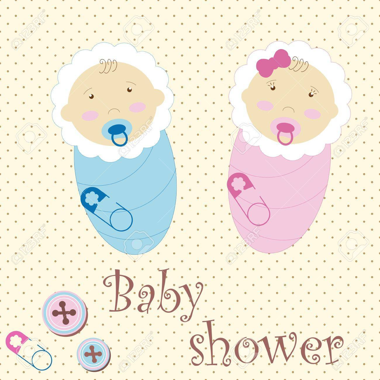 Boy and girl twins clipart clip art library stock Baby Twins Vector clip art library stock