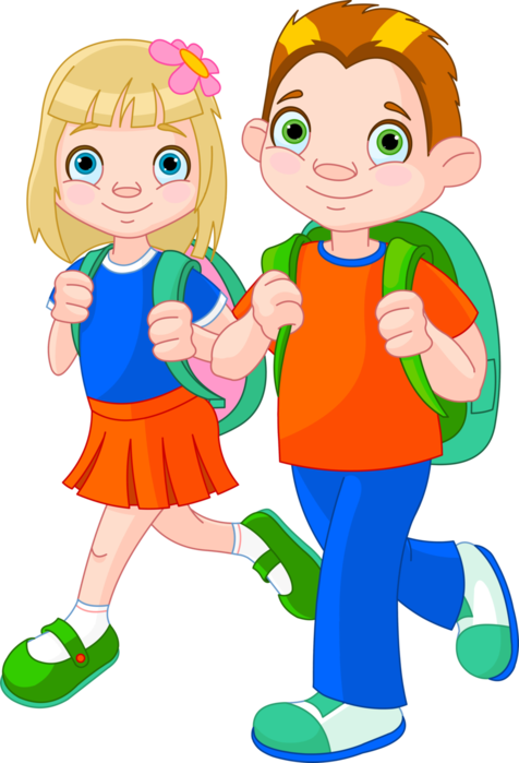 Boy and girl walking clipart clip free stock Clip Art Royalty Free Stock Clipart Boy And Girl - Walking Clipart ... clip free stock