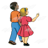 Boy and girl walking clipart picture library download Boy and Girl, walking away picture library download