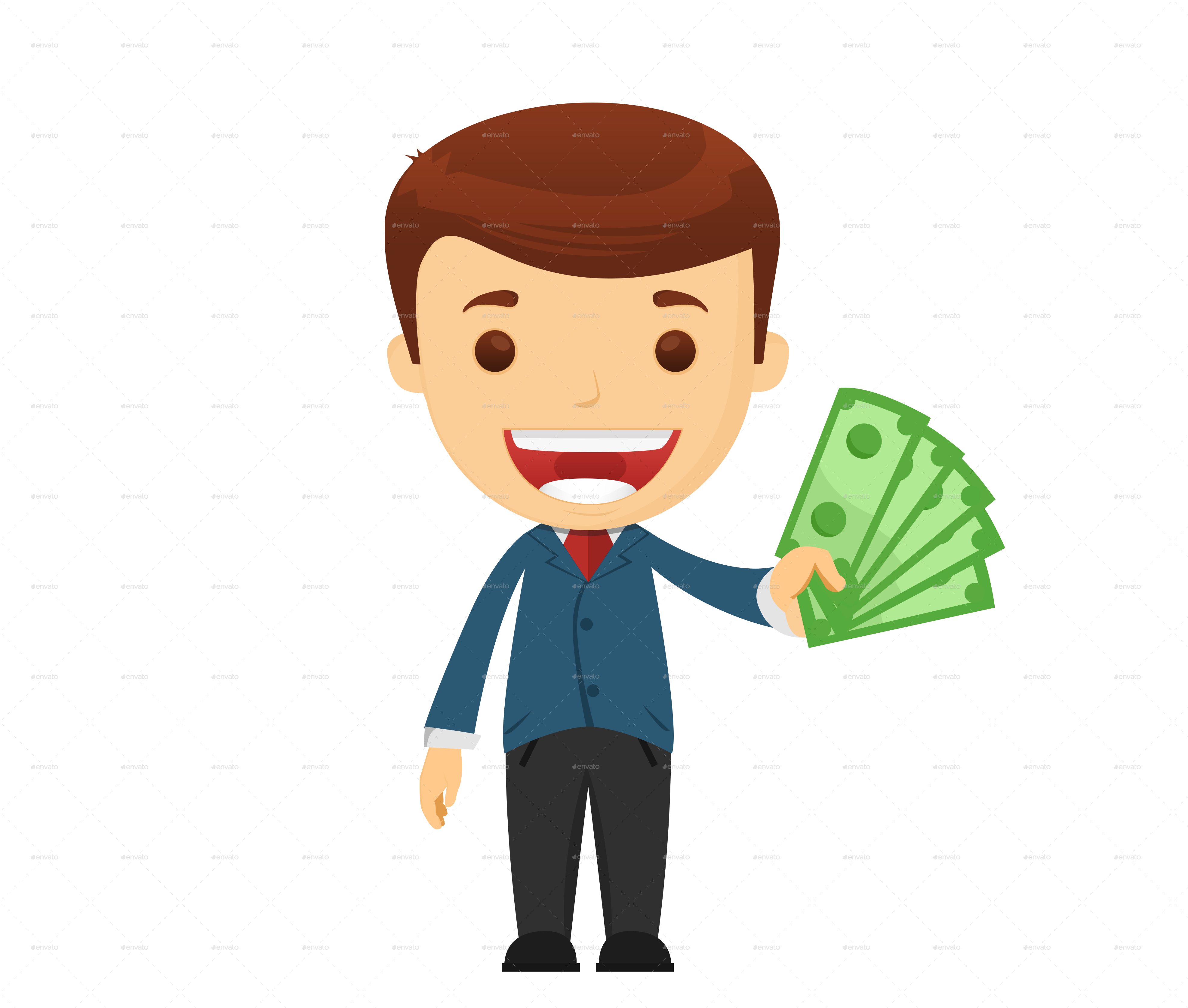 Boy and money clipart picture freeuse Businessman by ekoy | GraphicRiver picture freeuse