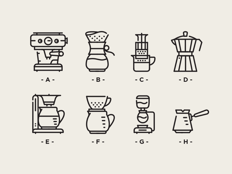 Boy at the coffee shop clipart black and white clip art black and white download Coffee Brewing Icons | Design | Coffee icon, Coffee shop logo ... clip art black and white download